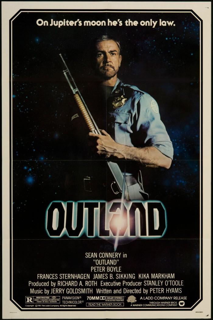 outland 1981 700x1051 Outland Sean Connery posters Peter Hyams Peter Boyle Outland Movies Frances Sternhagen design Art 1981