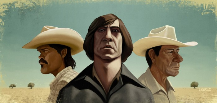NoCountryOldMen 700x335 No Country for Old Men No Country for Old Men illustration Coen Brothers Blake Loosli Art