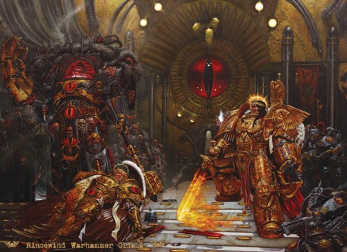 fullview emperor horus 500x364 Horus vs The Emperor