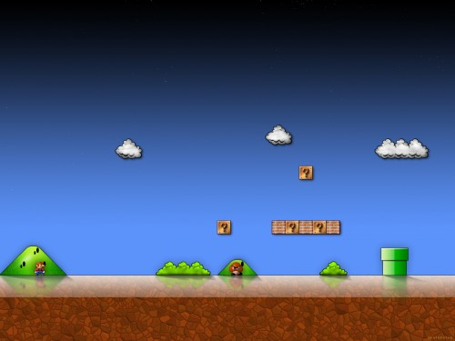 smbwp 1600 1200 500x375 Super Mario Background Wallpaper mario Gaming