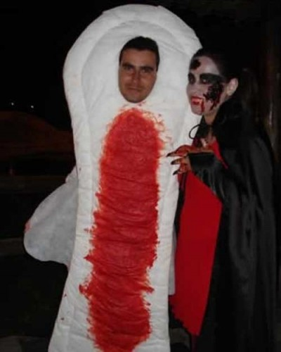 costume 400x500 Bloody Pad Costume wtf Halloween