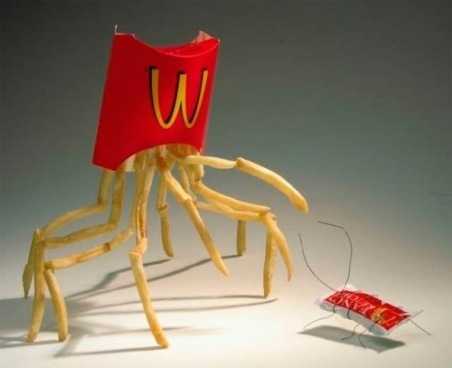 Fry Spider 500x407 Fry Spider Food Art