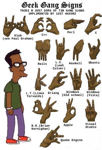 geek gang signs 338x500 Geek Gang Signs Humor