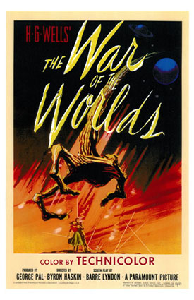 Film poster The War of the Worlds 1953 The War of the Worlds, 1953 Movies Military