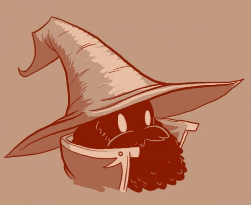 Bearded  Black Mage by Vanjamrgan 500x409 Bearded Characters Humor Gaming Awesome Things