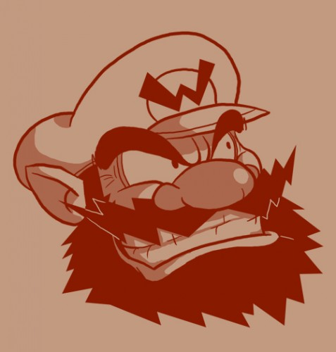 Bearded  Wario by Vanjamrgan 477x500 Bearded Characters Humor Gaming Awesome Things