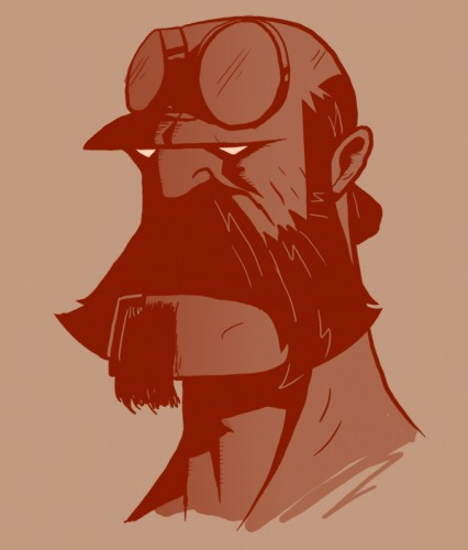 beardhellboy+copy 426x500 Bearded Characters Humor Gaming Awesome Things