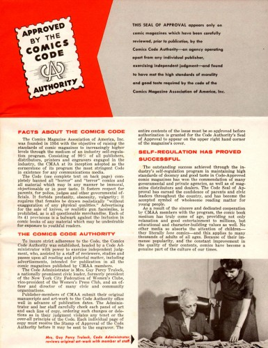 Vintage Comics Code Brochure 01 72dpi 385x500 The Comics Code Authority Comic Books
