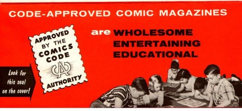 Vintage Comics Code Brochure 05 72dpi 499x229 The Comics Code Authority Comic Books