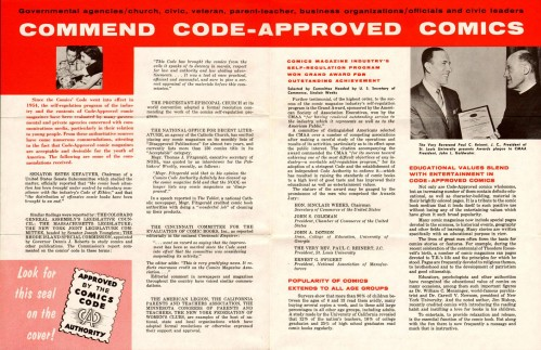 Vintage Comics Code Brochure 06 72dpi 499x323 The Comics Code Authority Comic Books