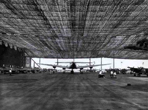 lockhead1 500x373 Lockheed Plant during World War II Visual Tricks Military