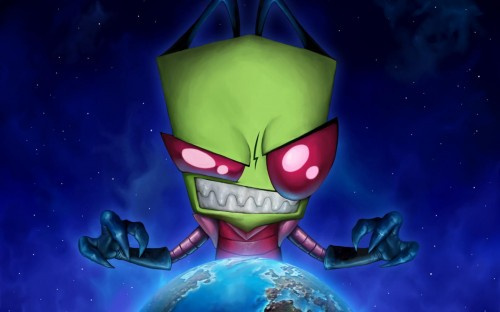 Cartoon Invader Zim 64391 500x312 Invader zim Wallpaper Television Awesome Things