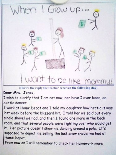 pole 374x499 When I grow up... I want to be like mommy! X Mas Humor