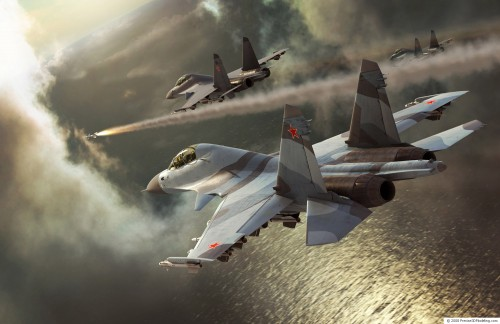 su30mki large 500x324 Sukhoi 30 squad sending someone to hell Wallpaper Military Gaming