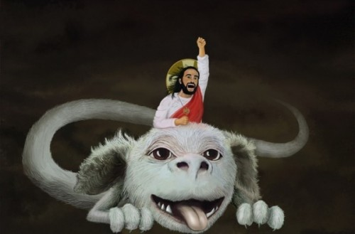 Jesus and Falkor.jpg (56 KB)