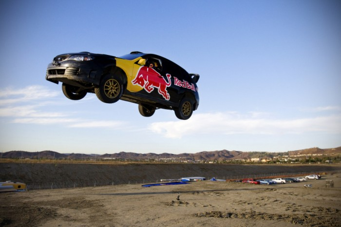 travis pastrana red bull 01 700x466 On New Years Eve, a Car Flew! Sports Cars