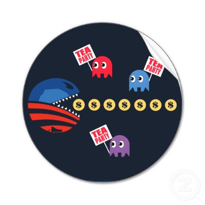 obama pacman teaparty ghosts Taxman Fever Politics Gaming
