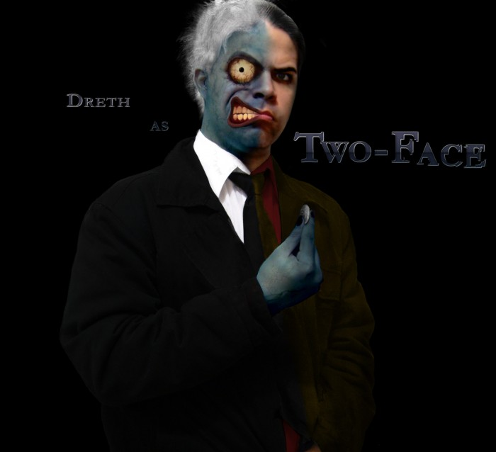 TwoFace 700x638 Theme Day   Dreths Photoshop manipulations Wallpaper MCS Art Awesome Things