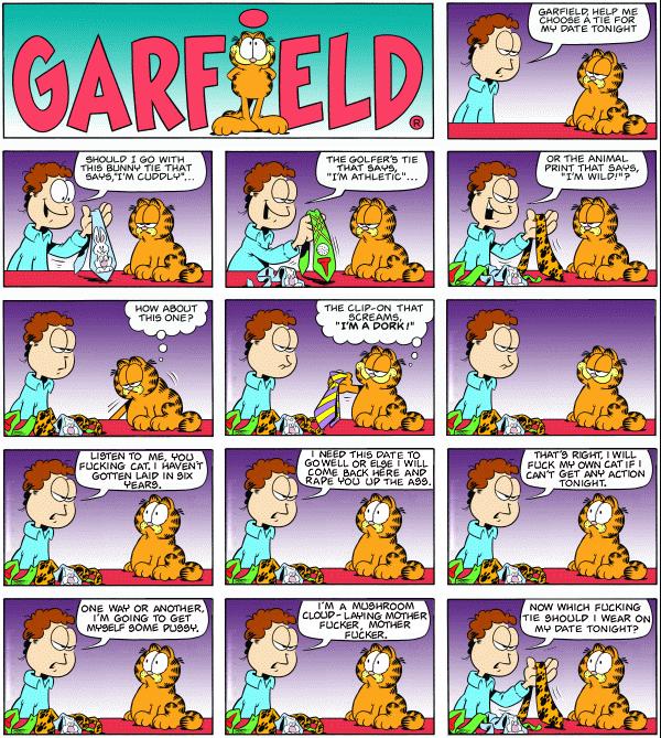 garf Garfields`s owner snaps! wtf Humor garfield
