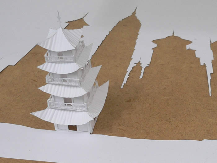 TheShortDistanceBetweenTimeandShadowDetail jpgRED paper cut wtf Art