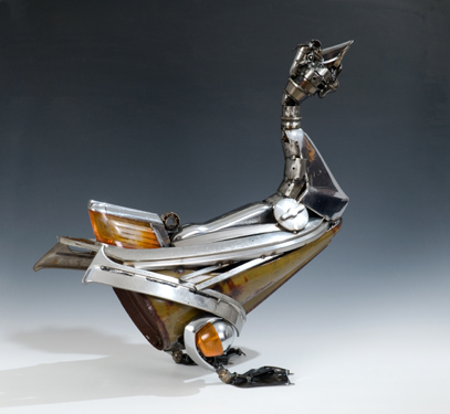 Goose Animals made out of Car Parts Technology Art