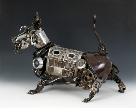 Scotty Animals made out of Car Parts Technology Art