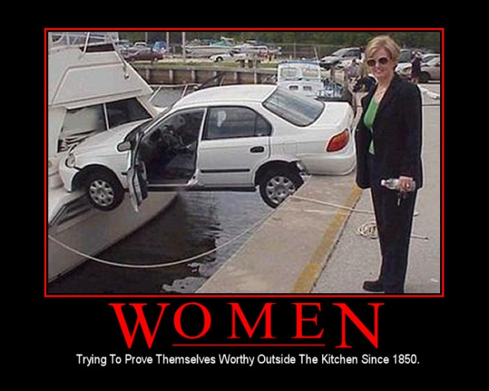 Women With Cars 700x560 Motivational Posters wtf NeSFW Humor