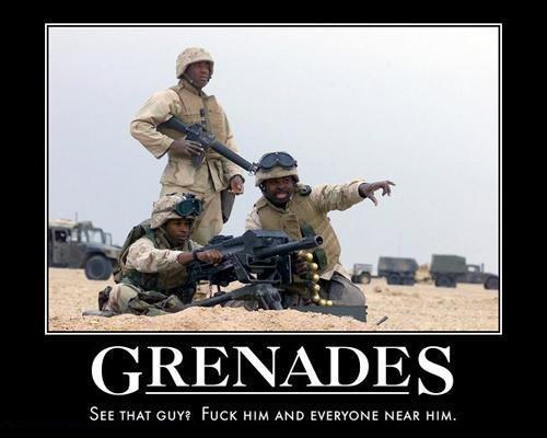 motivator grenades Grenades Weapons Humor