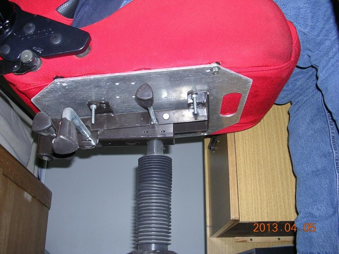 how i attached a bucket 4 point harness racing seat to a desk chair