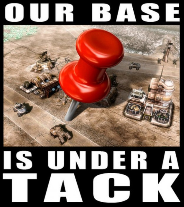 our base under a tack 624x700 A Tack Attacks Humor