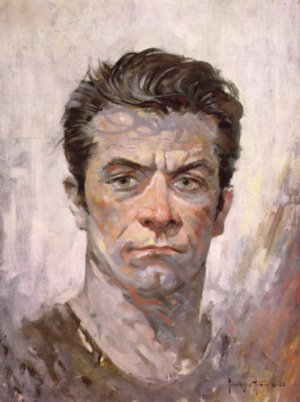 small FrankFrazetta Self Portrait 1962 Frazetta the Man