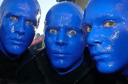 BlueManGroup The Blue Men: colloidal silver & argyria