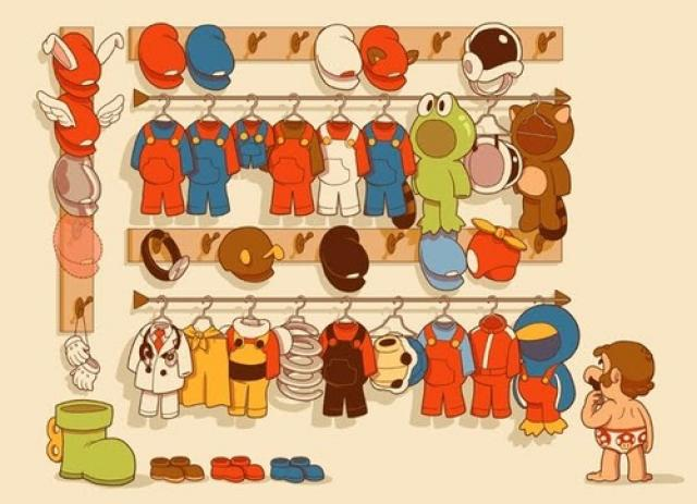 mario clothes Marios Wardrobe