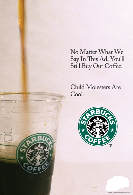 sbucksad Starbucks ad starbucks Humor Coffee Advertisements