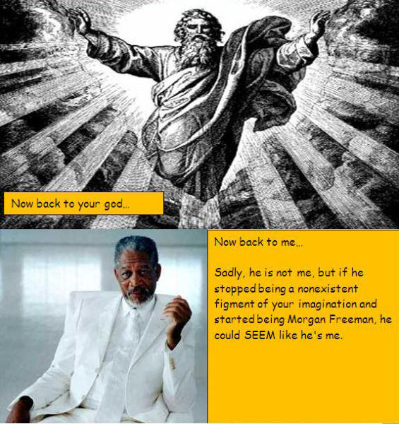 morgan freeman as god 02 Morgan Freeman Humor forum fodder