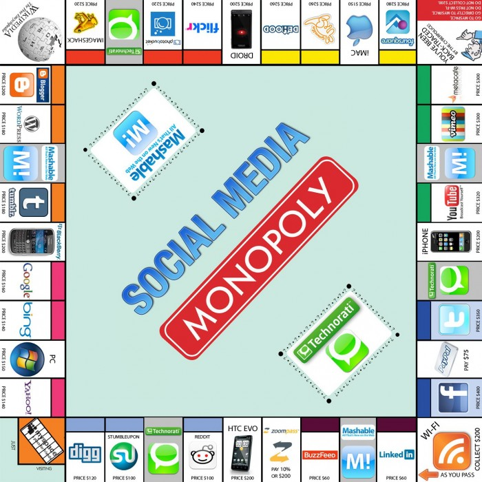 social media monopoly 700x700 Social Media Monopoly Humor Games