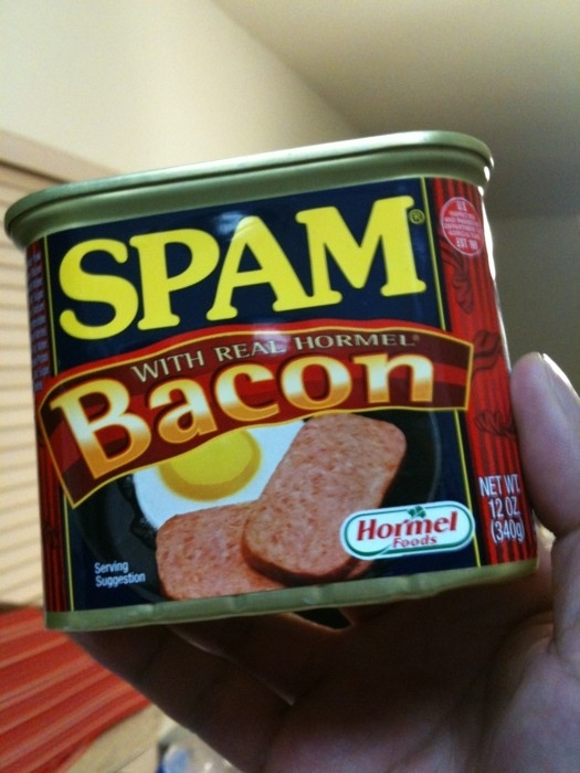 collide OMG! Bacon Spam! wtf spam Food bacon