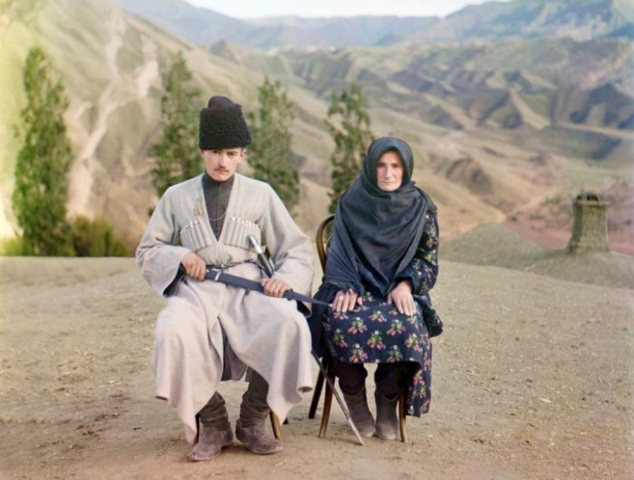A man and woman pose in Dagestan, ca. 1910..jpg (126 KB)