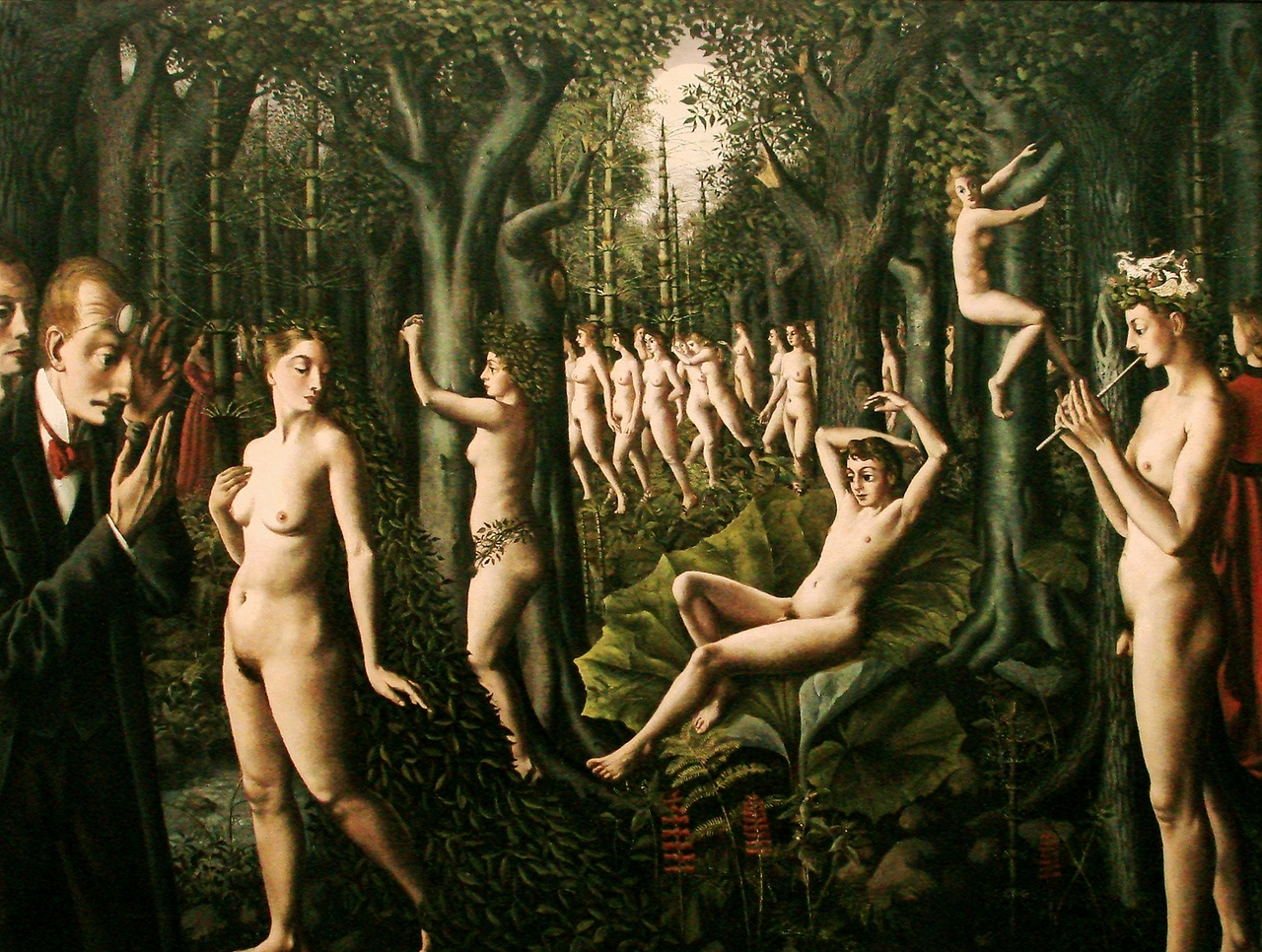 The Awakening of the Forest by Paul Delvaux..png