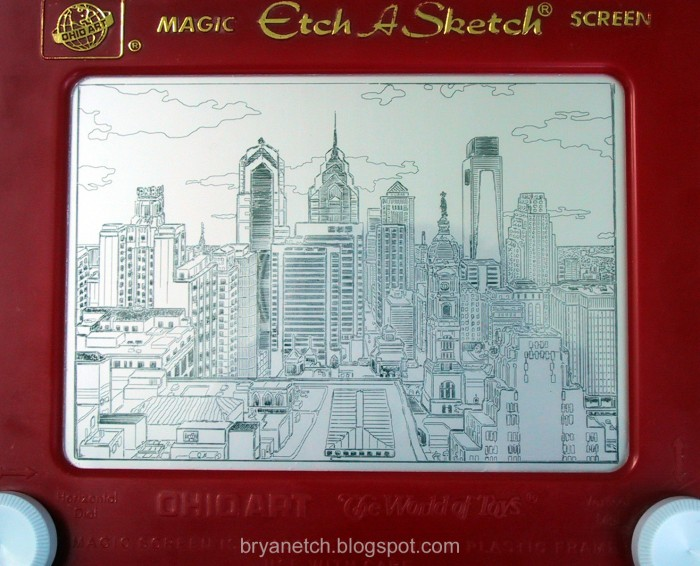 phila etch a sketch 700x566 Philadelphia Etch A Sketch Technology Awesome Things