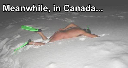 Canada Meanwhile, In Canada winter snow NeSFW Humor