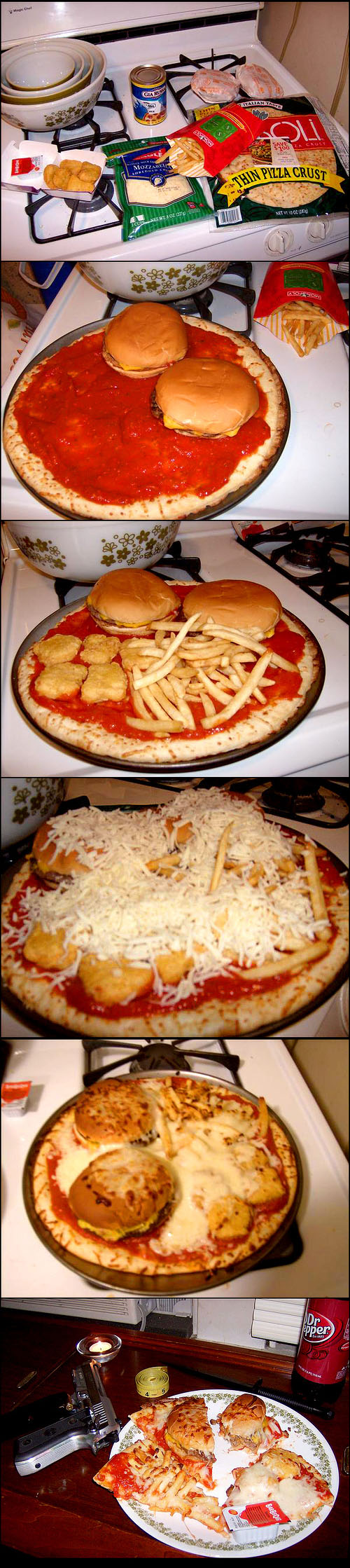 macdonaldspizza McDonalds on a pizza wtf Food