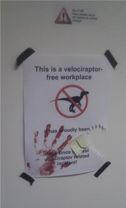 non-Velociraptor Free Workplace