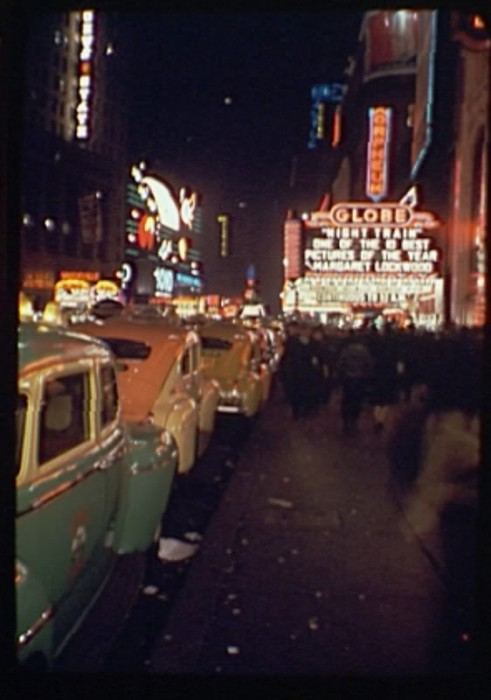 GSI NY Times Square Night Train 491x700 Great Depression Photos Technology
