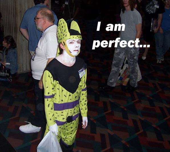 I am perfect I am perfect... Humor DBZ cosplay