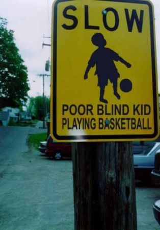 SLOW, Poor Blind Kid SLOW....Poor Blind Kid Playing Basketball Humor