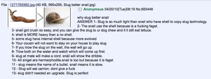 1289499339679 700x263 Why slug better snail. snails Humor
