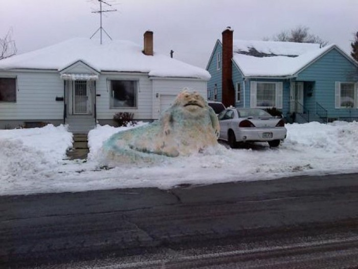 jaba 700x525 Jabba the Snowman winter star wars snow Humor