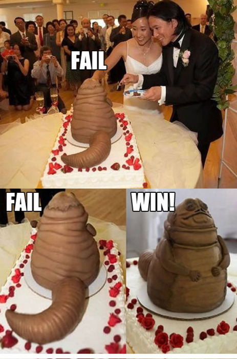 tumblr lcidbkOv0R1qzrlhgo1 500 Hutt cake weddings star wars Humor Food