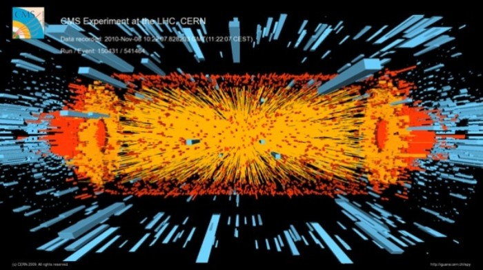 First Heavy-Ion Collision